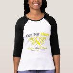 Sarcoma Tribal Ribbon Hero Shirts