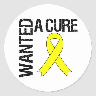 Sarcoma Wanted A Cure Classic Round Sticker