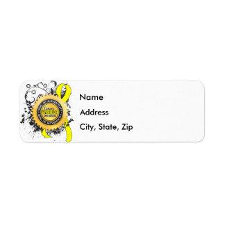 Sarcoma Warrior 23 Return Address Label