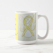 Sarcoma Yellow Awareness Ribbon Angel Custom Mug