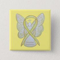 Sarcoma Yellow Awareness Ribbon Angel Custom Pin