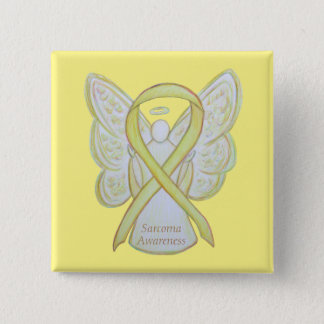 Sarcoma Yellow Awareness Ribbon Angel Custom Pin