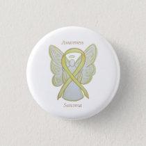 Sarcoma Yellow Awareness Ribbon Angel Pin