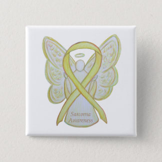 Sarcoma Yellow Awareness Ribbon Angel Pin