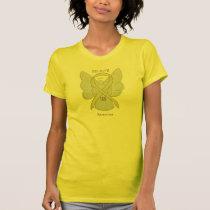 Sarcoma Yellow Awareness Ribbon Angel Shirt