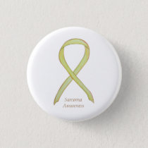 Sarcoma Yellow Awareness Ribbon Custom Pin