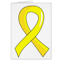 Sarcoma Yellow Ribbon 3 Card