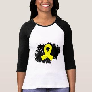 Sarcoma Yellow Ribbon With Scribble T-Shirt