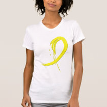 Sarcoma's Yellow Ribbon A4 T-Shirt