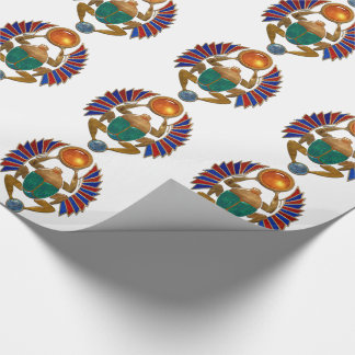 Sarcophagus 3D Egyptian graphic. Wrapping Paper