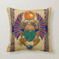 Sarcophagus 3D Egyptian Throw Pillow