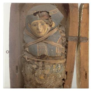 Sarcophagus and mummified body of Psametik I (664- Ceramic Tile