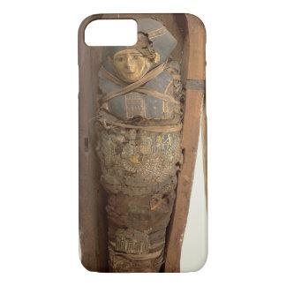 Sarcophagus and mummified body of Psametik I (664- iPhone 8/7 Case