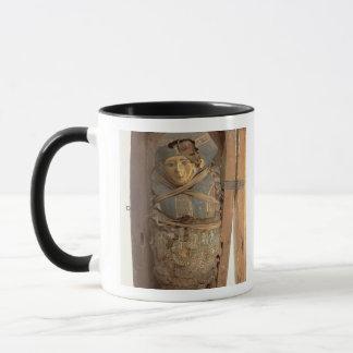Sarcophagus and mummified body of Psametik I (664- Mug