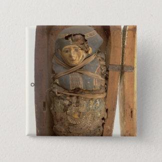 Sarcophagus and mummified body of Psametik I (664- Pinback Button