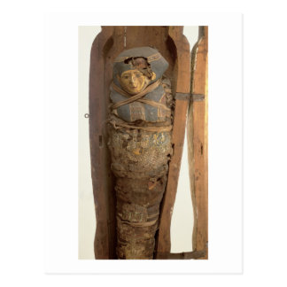 Sarcophagus and mummified body of Psametik I (664- Postcard