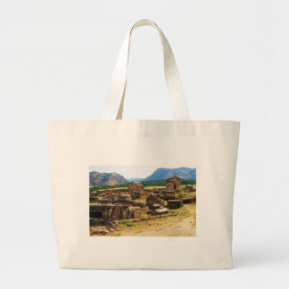 Sarcophagus and Tombs at  Necropolis  Hierapolis Large Tote Bag