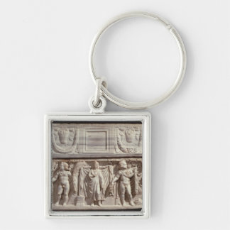Sarcophagus depicting the deceased keychain