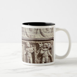 Sarcophagus depicting the deceased Two-Tone coffee mug
