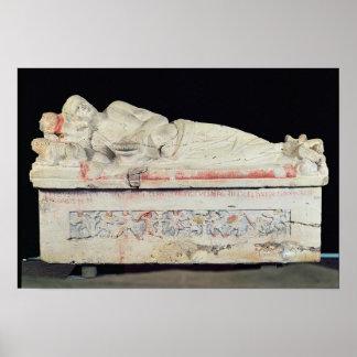 Sarcophagus, Etruscan Poster