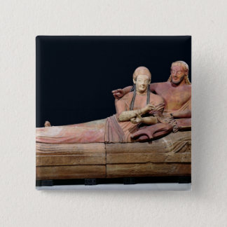 Sarcophagus of a married couple, 525-500 BC Button