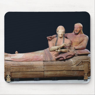 Sarcophagus of a married couple, 525-500 BC Mouse Pad
