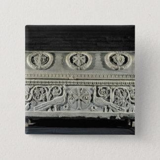 Sarcophagus of bishop Theodore Pinback Button