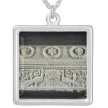 Sarcophagus of bishop Theodore Square Pendant Necklace