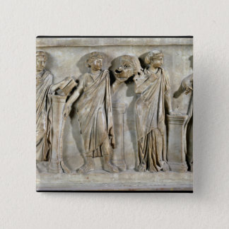 Sarcophagus of the Muses Button