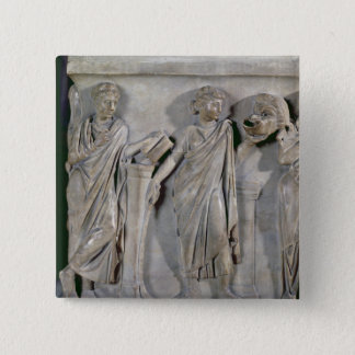 Sarcophagus of the Muses, detail of Clio & Pinback Button