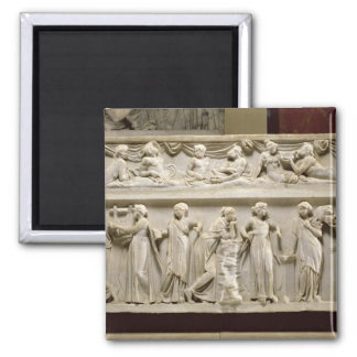 Sarcophagus of the Muses, Roman (marble) Magnet