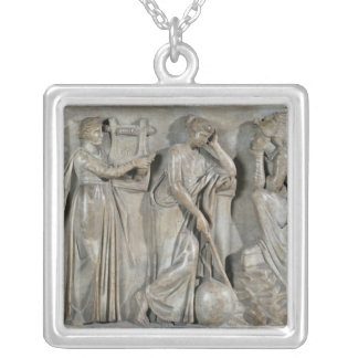 Sarcophagus of the Muses Silver Plated Necklace