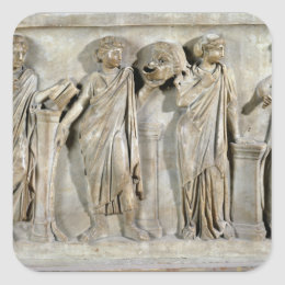 Sarcophagus of the Muses Square Sticker