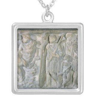 Sarcophagus Silver Plated Necklace