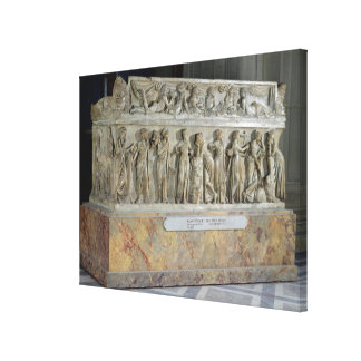 Sarcophagus with frieze of the Nine Muses Canvas Print