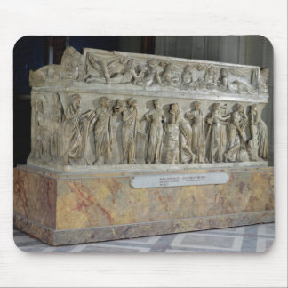 Sarcophagus with frieze of the Nine Muses Mouse Pad