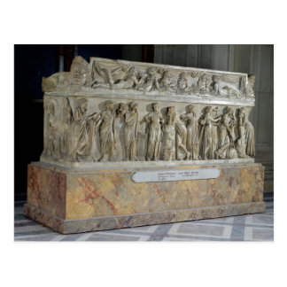 Sarcophagus with frieze of the Nine Muses Postcard