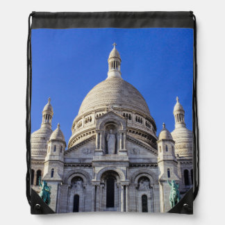 Sarcre Coeur Basilica In Paris, France Drawstring Backpack