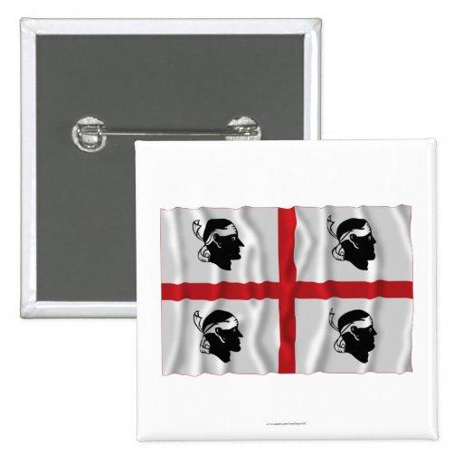Sardegna waving flag button