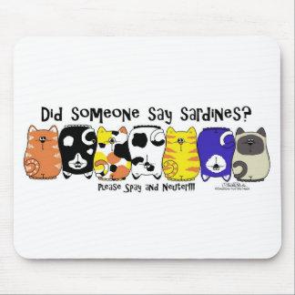 Sardine Cats Mouse Pad