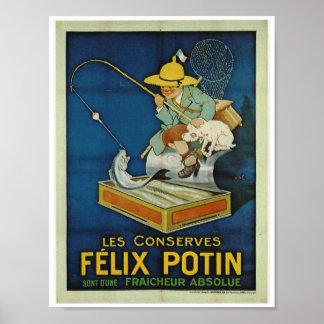 Sardine vintage French advertisement fishing Poster