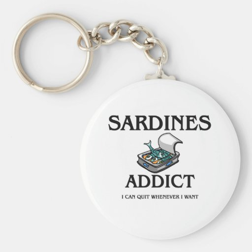 Sardines Addict Key Chain