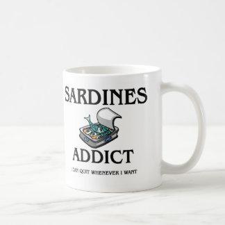 Sardines Addict Coffee Mugs
