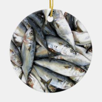 Sardines Ceramic Ornament