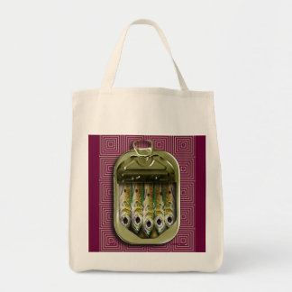 sardines in the pink tote bag
