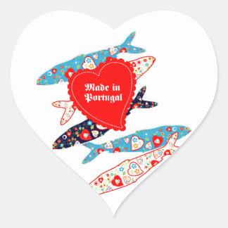 Sardines made in Portugal Heart Sticker