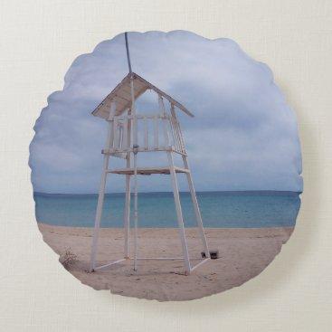 Sardinia beach round pillow