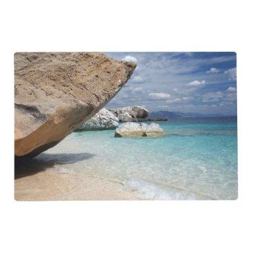 Sardinia beach with big rocks placemat