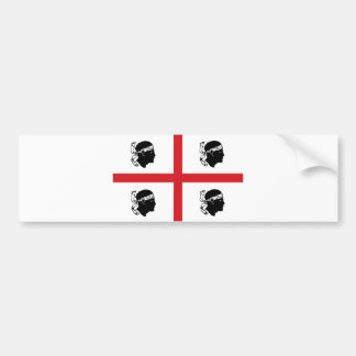 sardinia flag italy region island ethnic car bumper sticker