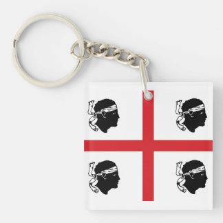 sardinia flag italy region island ethnic keychain
